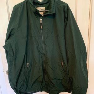 L.L. Bean men's fleece lined jacket Green XXL Tall